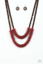 Dominican Disco Red Necklace By: Paparazzi
