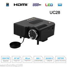 Portable PROYECTOR LED Projector Home Cinema HD HDMI VGA USB AV Para PC Laptop