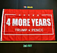 New listing Donald Trump 2020 Flag Free First Class Ship 4 More Years Red Usa New One Sided