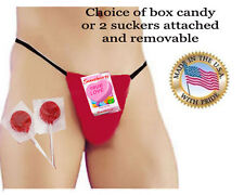 Mens Valentine Pouch g-string Gift Brief Naughty candy made to your jean size