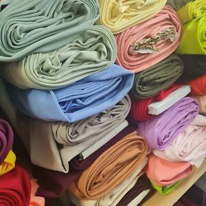 "27 Colors Plain Scuba / Crepe Jersey Stretch Spandex Dress Fabric Material 58"" W"