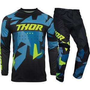 Thor MX 2021 Sector Warship Blue/Acid Motocross Gear Set