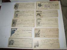 (48) EARLY 1900S BANK CHECKS - USED - NICE GRAPHICS - TUB MM
