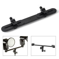"1/4"" Screw Light Stand Flash Bracket Holder + Hot Shoe Mount Adapter For Camera"