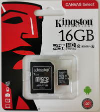 Kingston Canvas Select UHS-I microSDHC 16GB Speicherkarte + Adapter