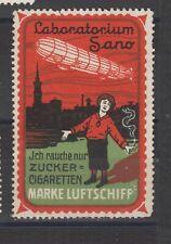 German Poster Stamp Zeppelin Cigarettes R