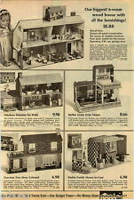 1970 PAPER AD Dollhouse Colonial Barbie Lively Livin' House-In-Case Dishes