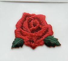 Red Rose hierro en apliques Motif Parche, a estrenar
