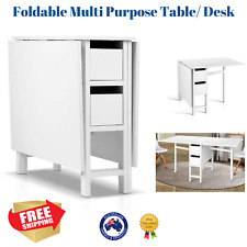 NEW Craft Sewing Table Office Desk Multi Purpose Dining Foldable Drawers Gateleg