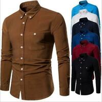 Luxury Men's Shirts Slim Fit Long Sleeve Casual Dress Shirts New T-Shirts Tops