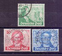 Berlin 1949 - Goethe - MiNr. 61/63 rund gestempelt - Michel 180,00 € (856)