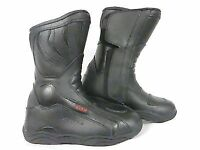 XTRM 801 LEATHER MOTORCYCLE MOTORBIKE BOOTS URBAN CITY WARM BOOTS BLACK