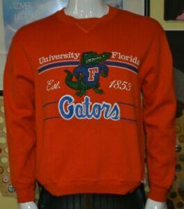 VTG 80s Florida Gators Mascot Throwback Crew Sweatshirt Sweater Medium Russell