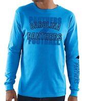 Carolina Panthers Majestic NFL Primary Receiver 3 Men's Long Sleeve T-Shirt
