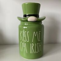 New Rae Dunn Kiss Me I'm Irish Green St. Patrick's Day Canister - Online Release