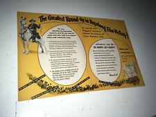 HOPALONG CASSIDY Vintage Movie Trade Ad 1950 William Boyd Western Poster