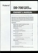 Rare Orig Factory Roland DB-700 D-Bass Amplifier Owner's Manual & Midi Guidebook