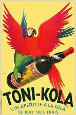 FRENCH WINE, 1935 Vintage Advertising Poster Reproduction Canvas Print  20X30