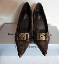 GF Glamour Original Brown Faux Reptile Skin High Heel Pumps  6