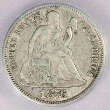 1876-CC Liberty seated Dime ICG VF35