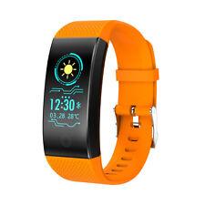 Waterproof Bluetooth Smart Watch Sports Activity Tracker Heart Rate Bracelet QW