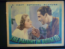 1938 THE PATIENT IN ROOM 18 - 3 EARLY ANN SHERIDAN LOBBY CARDS - MYSTERY CRIME