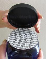 18 Cosmetic Jars Square Blue Containers w/ Pressure Sensitive Sealer 4 oz # 9304