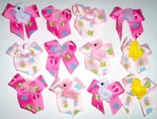 SM Dog Grooming Bows Decorated Easter Dog Bows Grosgrain ribbon Yorkie USA