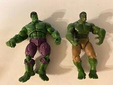 "Lot Of 2 Marvel Universe Incredible Hulk 5"" Action Figure Hasbro 2011"
