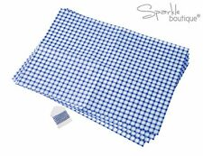 BLUE & WHITE CHECKED/GINGHAM STYLE GREASEPROOF PAPER -Gift Wrapping for Cookies