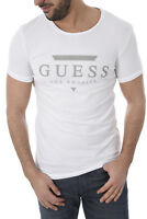 Guess Tee-shirt Blanc U82m00 Jr004 À Manches Courtes