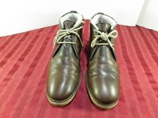 Lloyd Chukka Ankle Brown Leather Lamb Skin Lined Boots Men Size 9 UK German Made
