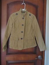 Women's Eddie Bauer Pale Mustard Corduroy Jacket NWT SZ Petit Small Nice Detail