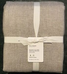 Pottery Barn Belgian Flax Linen Waffle Weave, Size Full.Queen, New W/$249.00 tag