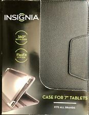 """INSIGNIA Folio Universal Case Flip Leather Stand Cover For 7"""" Tablets - 7 inch"""