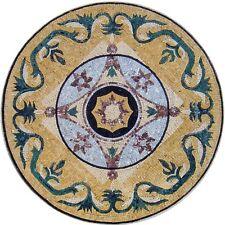 "20"" Handmade Decorative Marble Mosaic Medallion  Art Stone Tile Home Decor."