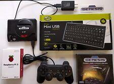 Raspberry Pi 3 mini Sega Genesis Retro Game System 64GB w Controller & Keyboard