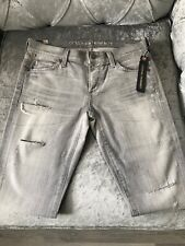 BNWT CITIZENS OF HUMANITY Grey Distressed Jeans Low Rise Size 27