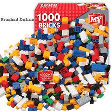 M.Y 1000 PIECE ASSORTED TOY CONSTRUCTION BUILDING BRICKS SET BLOCKS LEGO BUILD