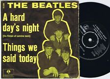 THE BEATLES A Hard Day's Night danish 45PS 1964 Yellow Portraits VG/VG+