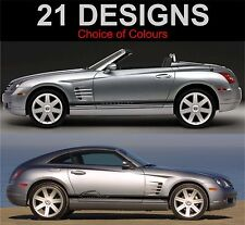 CHRYSLER CROSSFIRE LATO STRIPE DECAL ADESIVI GRAFICHE TRD 2 OFF