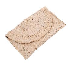 Straw Square Hand Woven Women Clutch Bag Purse Bags Summer Beach Weave 8C