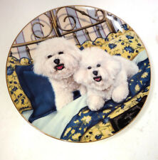 Bichons Frise Puppy Dog Cuddle Up Puppy Dog Danbury Mint Plate