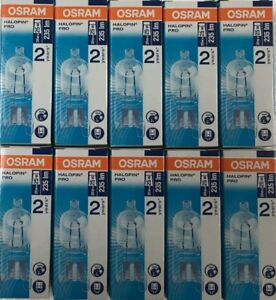 10 yes 10 Osram 20W = 25W G9 2pin Halopin Halogen Capsule Clear Dimmable bulb