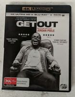 GET OUT - 4K ULTRA HD + Blu-ray ALL Region oz seller DVD