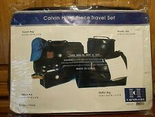Calvin Hill 4 Piece Cosmetic Beauty Duffle Bag Shave Kit Travel Suitcase Set New