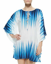 VIX PAULA HERMANNY NILE PRINTED VOILE CAFTAN SWIM DRESS COVER UP TUNIC  S
