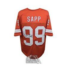 Warren Sapp Autographed Tampa Bay Buccaneers Orange Football Jersey - JSA COA