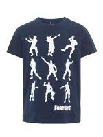 NAME IT Jungen T-shirt NKMAlex Fortnite dunkelblau Größe 122/128 bis 158/164