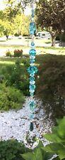 Healing Aqua Blue Crystal Suncatcher/Prism W/Swarovski Elements Lead Crystal USA